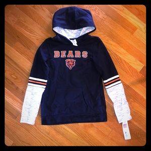 Girls Chicago Bears NFL Hoodie Long Sleeve 10/12